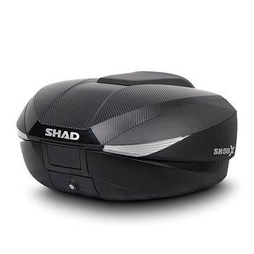 Vrchní kufr na motorku SH58X karbon (rozšiřitelný koncept) s PRÉMIOVÝM zámkem (D0B58206)
