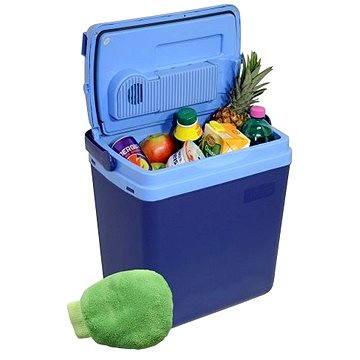 COMPASS Chladící box 25litrů BLUE 220/12V displej s teplotou (07121)