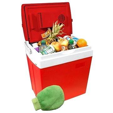 COMPASS Chladící box 30litrů RED 220/12V displej s teplotou (07125)