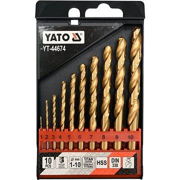 YATO Sada vrtáků do železa HSS-TiN 10ks 1-10mm (YT-44674)