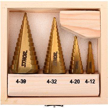 Sthor Súprava stupňovitých vrtákov 4 ks 4 – 39 mm(5906083049798)