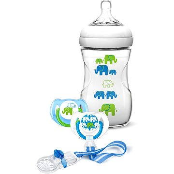 Philips AVENT kojenecká sada Natural pro chlapce - Slon (8710103748076)