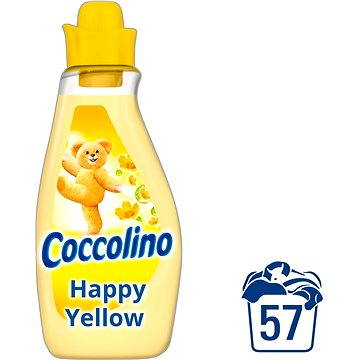 Coccolino Happy Yellow 2 l + ZDARMA Prací gel SURF Color Tropical Lily & Ylang Ylang (1 praní)