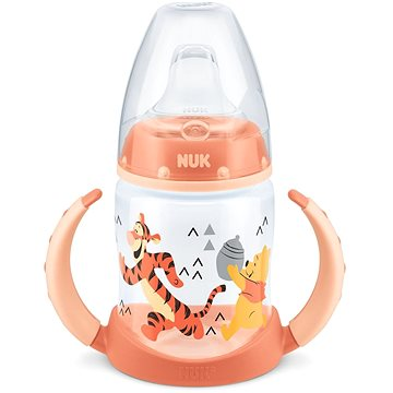 NUK láhev na učení Medvídek Pú, 150 ml - oranžová