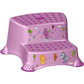 KEEEPER Dvojstupínek HIPPO - fialový (OK-H1544_SV.FIALOVÁ)