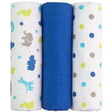 T-tomi Pleny látkové 3 ks - modré žirafy (8594166541344)