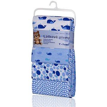 T-tomi Pleny látkové 4 ks - modré velryby (8594166540590)