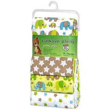 T-tomi Pleny látkové - zelení sloni (4 ks) (8594166541320)