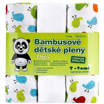 T-tomi Pleny bambusové 3 ks - ptáčci (8594166541399)