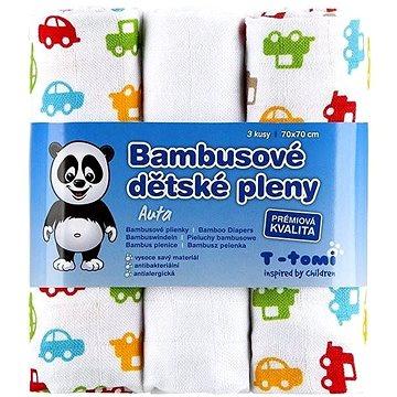 T-tomi Pleny bambusové 3 ks - auta (8594166541405)