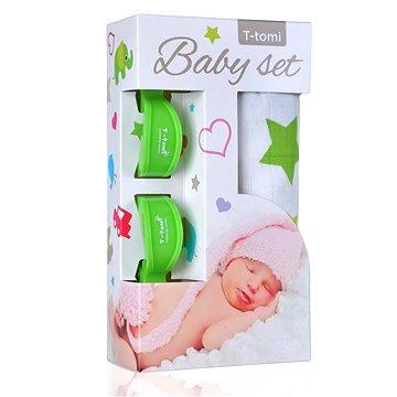 T-tomi Baby Set - zelené hvězdičky (8594166542952)
