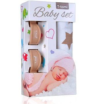 T-tomi Baby Set - béžové hvězdičky (8594166542969)