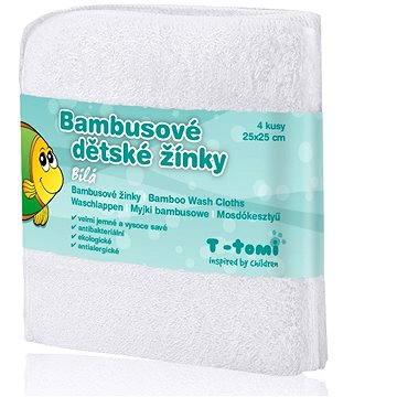T-tomi Bambusové žínky 4 ks - Bílá (8594166542297)
