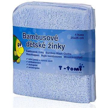 T-tomi Bambusové žínky 4 ks - Modrá (8594166540200)