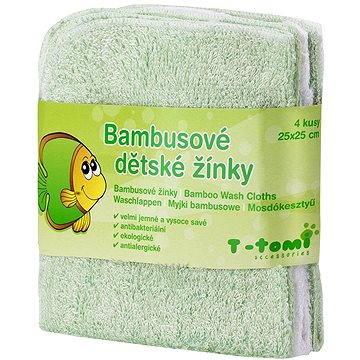 T-tomi Bambusové žínky 4 ks - Zelená (8594166540583)