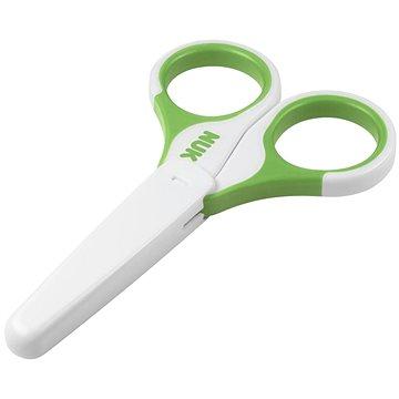 NUK Dětské zdravotní nůžky - zelené (10256257z)