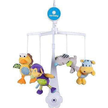 SUN BABY Plyšové hračky (ptáček, myš, opička, tygr) (5907478647247)