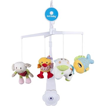 SUN BABY Plyšové hračky (ryba, ovce, kráva, kačenka) (5907478647452)