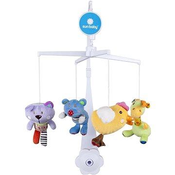 SUN BABY Plyšové hračky (medvídek, kočka, kuřátko, žirafka) (5907478647155)
