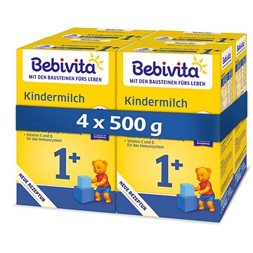 BEBIVITA JUNIOR 1+ Instantní pokračovací kojenecká výživa 4× 500 g (4018852026549)