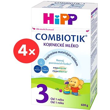 HiPP 3 Junior Combiotik - 4× 600 g (9062300428183)