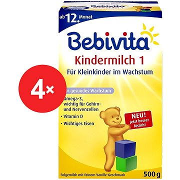 Bebivita Junior 1+ - 4× 500 g (4018852016540)