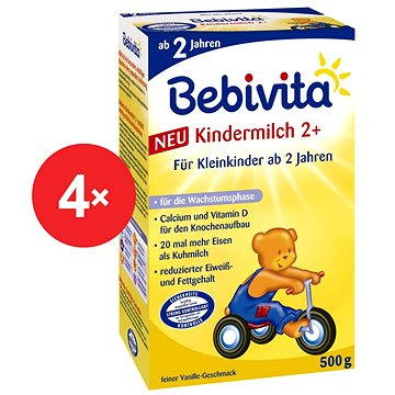 Bebivita Junior 2+ - 4× 500 g (4018852016588)