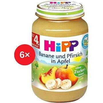 HiPP BIO Jablka s banány a broskvemi - 6× 125 g (4062300311282)