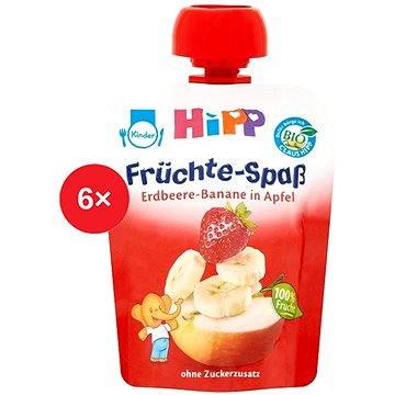 HiPP BIO Fruit Fun Jablko-Banán-Jahoda - 6× 90 g (9062300433453)