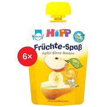 HiPP BIO Fruit Fun Jablko-Hruška-Banán - 6× 90 g (9062300433446)