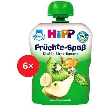 HiPP BIO Fruit Fun Hruška-Banán-Kiwi - 6× 90 g (9062300433491)