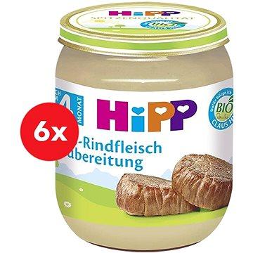HiPP BIO Hovězí maso - 6× 125 g (4062300266384)