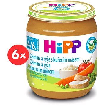 HiPP BIO Zelenina a rýže s kuřecím masem - 6× 125 g (9062300400981)
