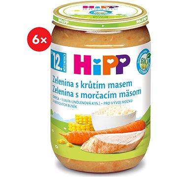 HiPP BIO Zelenina s krůtím masem - 6× 220 g (9062300403500)