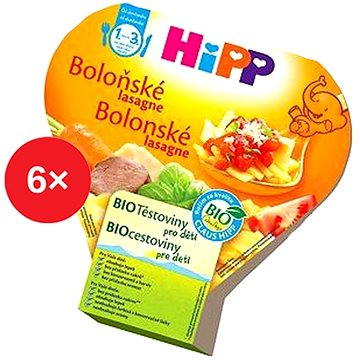HiPP BIO Boloňské lasagne - 6× 250 g (4062300294196)