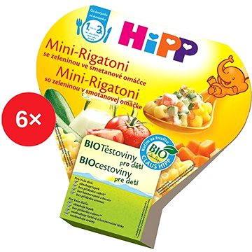 HiPP BIO Mini-Rigatoni se zeleninou ve smetanové omáčce - 6× 250 g (4062300294226)