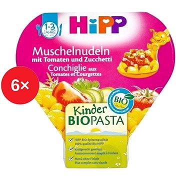 HiPP BIO Těstoviny s rajčaty a cuketou - 6× 250 g (9062300424406)