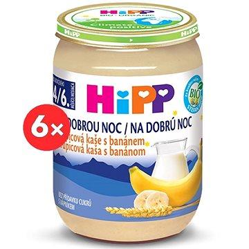 HiPP BIO Kaše na dobrou noc krupicová s banánem - 6× 190 g (4062300286672)