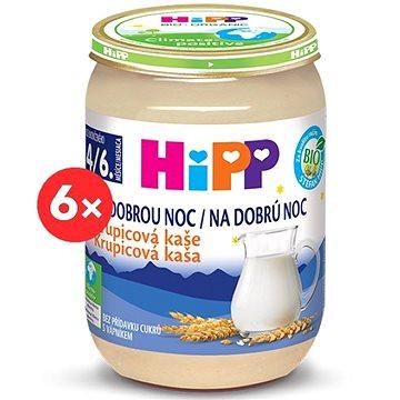HiPP BIO Kaše na dobrou noc krupicová - 6× 190 g (4062300286702)