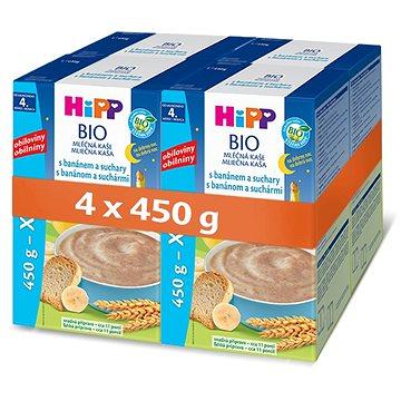 HiPP BIO Mléčná kaše na dobrou noc s banánem a suchary - 4× 500 g (9062300430957)