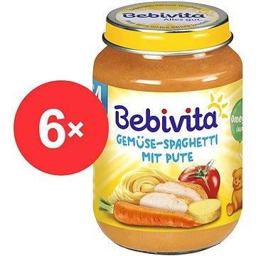 Bebivita Zelenina - špagety s krůtím masem - 6× 190 g (4018852010340)