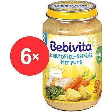 Bebivita Brambory-zelenina s krůtím masem - 6× 220 g (4018852001454)