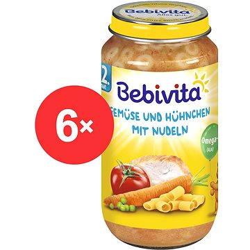 Bebivita Zelenina a kuřecí maso s nudlemi - 6× 250 g (4018852105206)