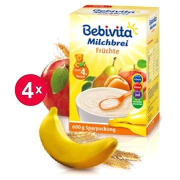 Bebivita Mléčná kaše ovocná - 4× 600 g (4018852007463)