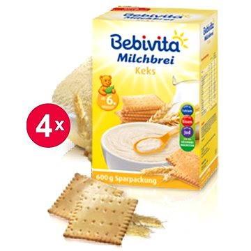 Bebivita Mléčná kaše sušenková - 4× 600 g (4018852007579)