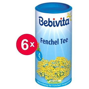 Bebivita Fenyklový čaj - 6× 200 g (9007253402989)