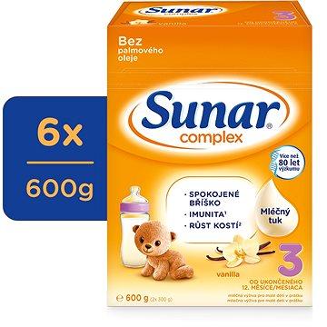 Sunar Complex 3 vanilka - 6× 600 g (41743600)