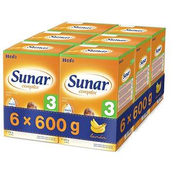 Sunar Complex 3 banán - 6× 600 g (41733600)