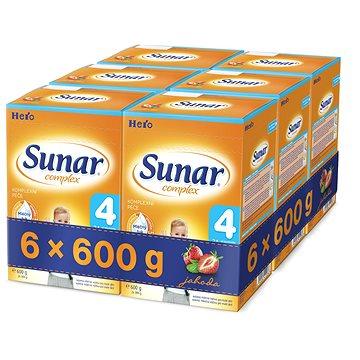 Sunar Complex 4 jahoda - 6× 600 g (41753600)