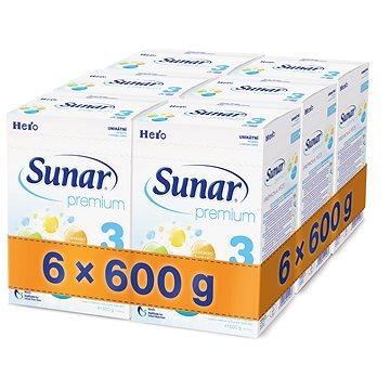 Sunar Premium 3 - 6× 600 g (41433600)
